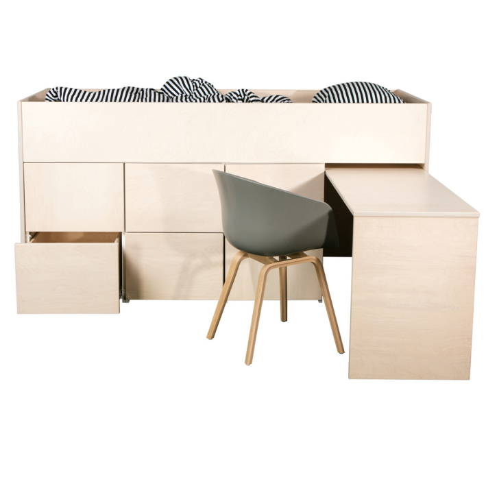 AVA Litte Loft 6 and desk (birch plywood)